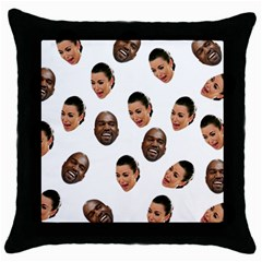 Crying Kim Kardashian Throw Pillow Case (black)