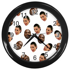 Crying Kim Kardashian Wall Clocks (black)