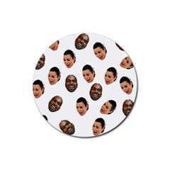 Crying Kim Kardashian Rubber Coaster (round)