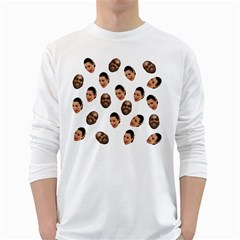 Crying Kim Kardashian White Long Sleeve T Shirts