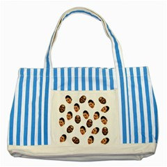 Crying Kim Kardashian Striped Blue Tote Bag