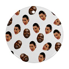 Crying Kim Kardashian Round Ornament (two Sides)