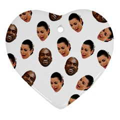 Crying Kim Kardashian Heart Ornament (two Sides)