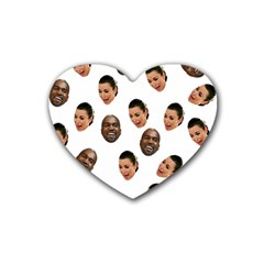 Crying Kim Kardashian Rubber Coaster (heart)