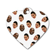 Crying Kim Kardashian Dog Tag Heart (two Sides)