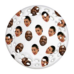 Crying Kim Kardashian Ornament (round Filigree)
