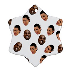 Crying Kim Kardashian Ornament (snowflake)