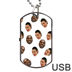 Crying Kim Kardashian Dog Tag Usb Flash (two Sides)