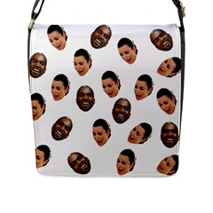 Crying Kim Kardashian Flap Messenger Bag (l)