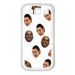 Crying Kim Kardashian Samsung Galaxy S3 Back Case (white)