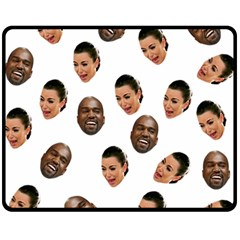 Crying Kim Kardashian Double Sided Fleece Blanket (medium)