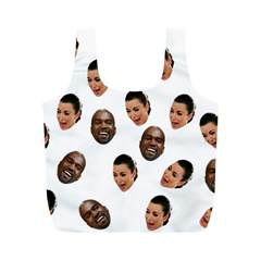 Crying Kim Kardashian Full Print Recycle Bags (m)