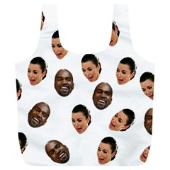 Crying Kim Kardashian Full Print Recycle Bags (l)