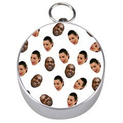 Crying Kim Kardashian Silver Compasses