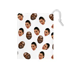 Crying Kim Kardashian Drawstring Pouches (medium)