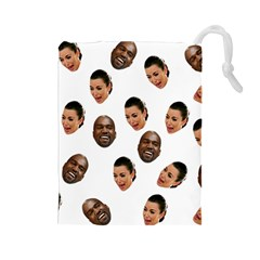 Crying Kim Kardashian Drawstring Pouches (large)