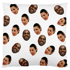 Crying Kim Kardashian Large Flano Cushion Case (one Side)