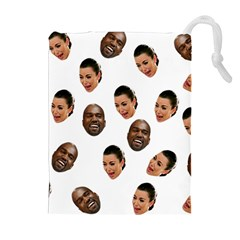 Crying Kim Kardashian Drawstring Pouches (extra Large)