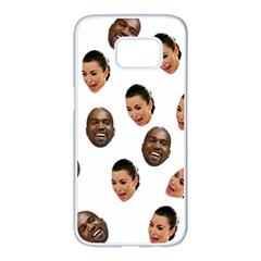 Crying Kim Kardashian Samsung Galaxy S7 Edge White Seamless Case