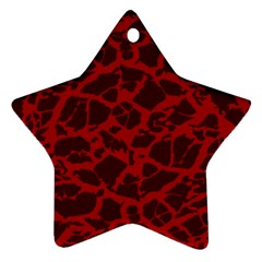 Red Earth Texture Ornament (star)