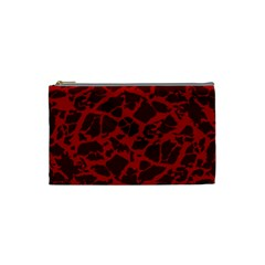 Red Earth Texture Cosmetic Bag (small)