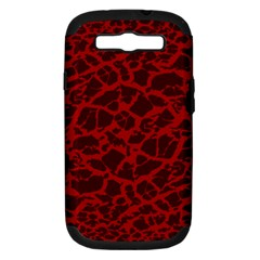 Red Earth Texture Samsung Galaxy S Iii Hardshell Case (pc+silicone)