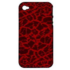 Red Earth Texture Apple Iphone 4/4s Hardshell Case (pc+silicone)