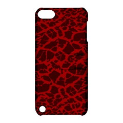 Red Earth Texture Apple Ipod Touch 5 Hardshell Case With Stand