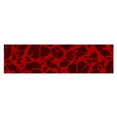 Red Earth Texture Satin Scarf (oblong)