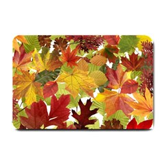 Autumn Fall Leaves Small Doormat