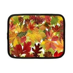 Autumn Fall Leaves Netbook Case (small)  by LoolyElzayat
