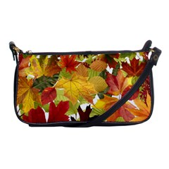Autumn Fall Leaves Shoulder Clutch Bags by LoolyElzayat