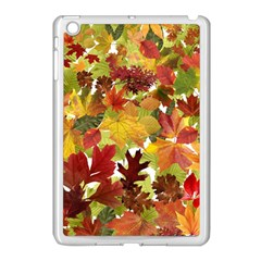 Autumn Fall Leaves Apple Ipad Mini Case (white)