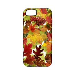 Autumn Fall Leaves Apple Iphone 5 Classic Hardshell Case (pc+silicone)