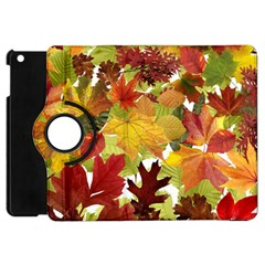Autumn Fall Leaves Apple Ipad Mini Flip 360 Case by LoolyElzayat