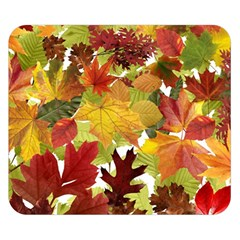 Autumn Fall Leaves Double Sided Flano Blanket (small)  by LoolyElzayat