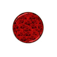 Romantic Red Rose Hat Clip Ball Marker (4 Pack)