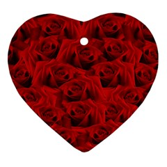 Romantic Red Rose Heart Ornament (two Sides) by LoolyElzayat