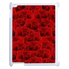 Romantic Red Rose Apple Ipad 2 Case (white) by LoolyElzayat
