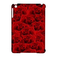 Romantic Red Rose Apple Ipad Mini Hardshell Case (compatible With Smart Cover)