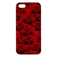 Romantic Red Rose Apple Iphone 5 Premium Hardshell Case by LoolyElzayat
