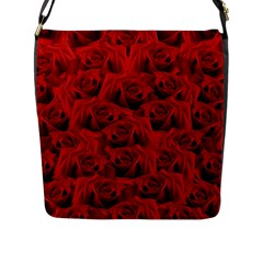 Romantic Red Rose Flap Messenger Bag (l)
