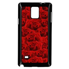 Romantic Red Rose Samsung Galaxy Note 4 Case (black) by LoolyElzayat
