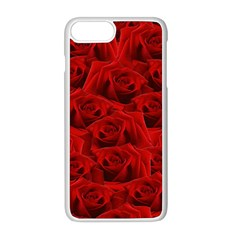 Romantic Red Rose Apple Iphone 8 Plus Seamless Case (white) by LoolyElzayat