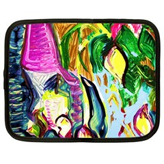 Lilac And Lillies 2 Netbook Case (large)