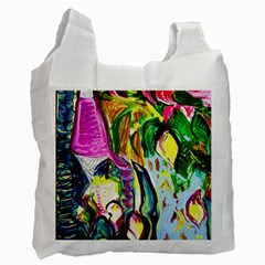 Lilac And Lillies 2 Recycle Bag (two Side)  by bestdesignintheworld