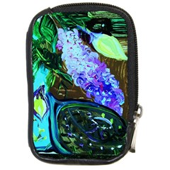 Lilac And Lillies 1 Compact Camera Cases by bestdesignintheworld