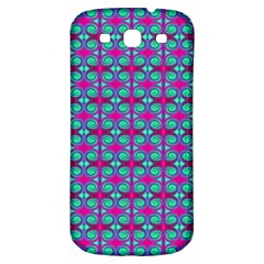 Pink Green Turquoise Swirl Pattern Samsung Galaxy S3 S Iii Classic Hardshell Back Case
