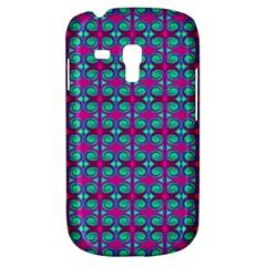 Pink Green Turquoise Swirl Pattern Galaxy S3 Mini by BrightVibesDesign