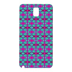 Pink Green Turquoise Swirl Pattern Samsung Galaxy Note 3 N9005 Hardshell Back Case